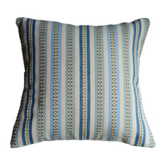 Textured Stripe Decorative Pillow, Spa Blue/Green, With Insert