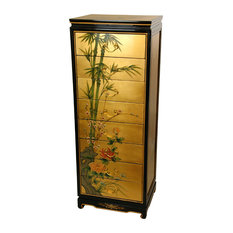 Gold Leaf Eight Drawer Cabinet