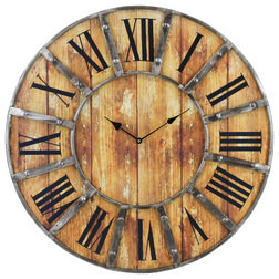 Farmhouse Wall Clocks by Aspire Home Accents, Inc.