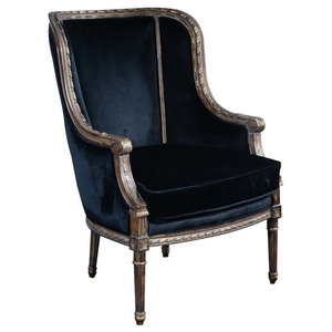 Bergere Chair Louis XVI French Hand-Carved