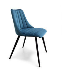Archie Dining Chairs, Blue Velvet, Set of 2