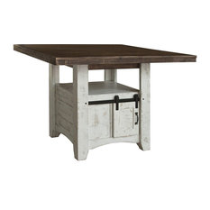 "Greenview Counter High 52"" Dining Table With Barn Door Storage"