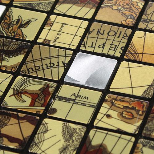 ... Metal Tile Stainless Steel Mosaic Backsplash 6102 - Mosaic Tile