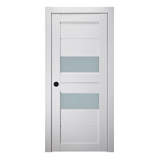 "Belldinni Interior Door Dessa Vetro Bianco Noble, 28"" X 92 1/2"", Right-Hand"
