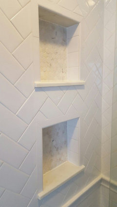 Bathroom Shower niche tile disaster? What is wrong with ...
