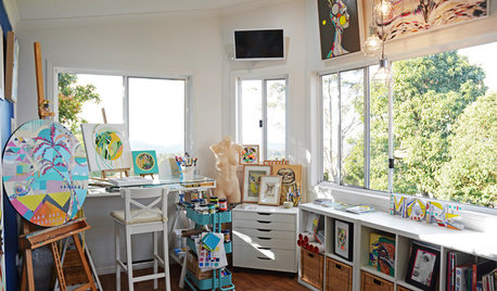 Studio Tour: A Painter's View From on Top of the World