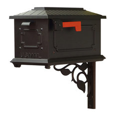 Kingston Curbside Mailbox With Floral Front Single Mailbox Mounting Bracket