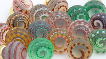 Artisan glass kitchen knobs