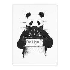 Balazs Solti 'Bad Panda' Canvas Art, 18x24
