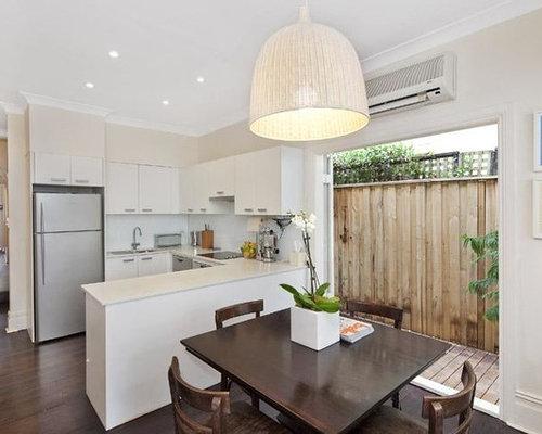 cuisine am ricaine moderne avec un plan de travail en terrazzo photos et id es d co de. Black Bedroom Furniture Sets. Home Design Ideas