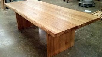 Bord i massiv ek utan sarg / karm med vankant