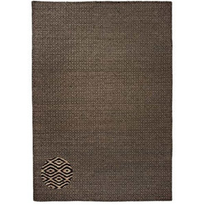 Classic Collection Handwoven Area Rug, Black, 200x140 cm