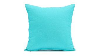 """Solid Aqua Blue Pillow Cover, 16""""x16"""""""