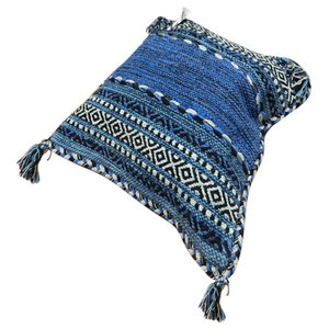 Inca Kelim Cushion, Blue, 47x47 cm