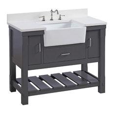 bathroom vanity single sink. Kitchen Bath Collection  Charlotte Bathroom Vanity Base Charcoal Gray 42 Single Sink Vanities Houzz