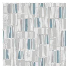 Bor Stapeter Blue Retro Geometric Wallpaper