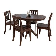 CorLiving Dillon 5 Piece Extendable Wooden Dining Set, Cappuccino