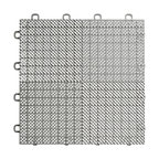 "12""x12"" Interlocking Deck/Patio Flooring Tiles, Perforated, Set of 30, Gray"