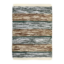 re:loom - re:loom Handwoven Small Rug, Madras Filed - Rugs