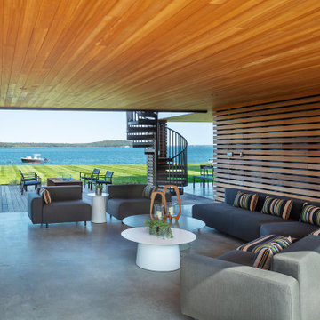 Covered Patio with Ocean Views
