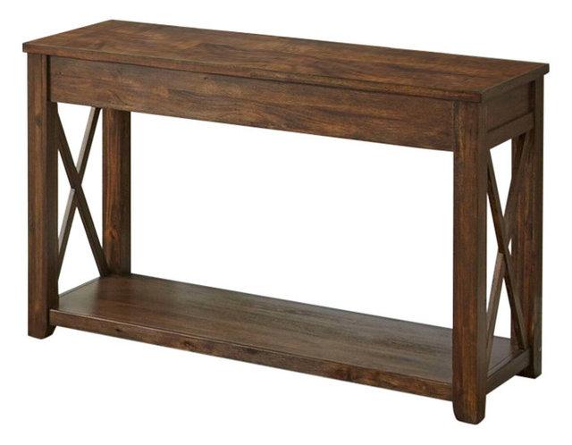 Lenka Sofa Table With Mocha Oak
