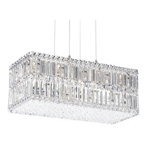 Quantum 18-Light Pendant in Stainless Steel With Clear Spectra Crystal