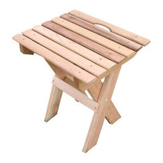 Red Cedar Folding Travel Table