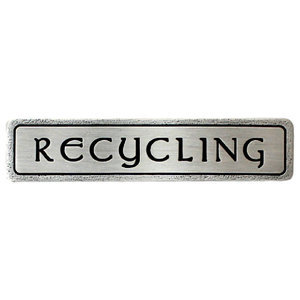 """""""RECYCLING"""" Pull Antique Pewter (Horizontal)"""