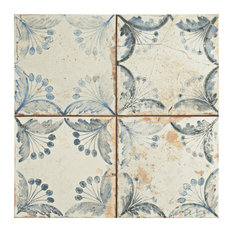 """SomerTile 13""""x13"""" Oliver Ceramic Floor and Wall Tile, Set of 10"""