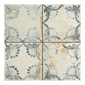 "SomerTile 13""x13"" Oliver Ceramic Floor and Wall Tile, Set of 10"
