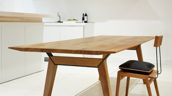Axiom Dining Table & Flock Dining Chair