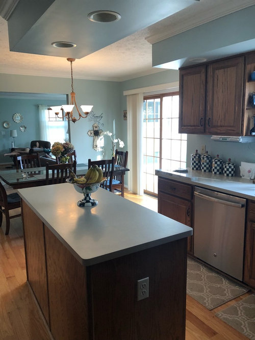 Wainscoting On All Sides Of Kitchen Island Or Just The Back