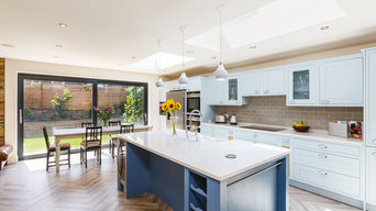 Jeffery and Wilkes - Cool Blue Kitchen Extension