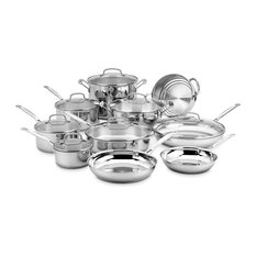 Chef's Classic Stainless 17-Piece Cookware Set