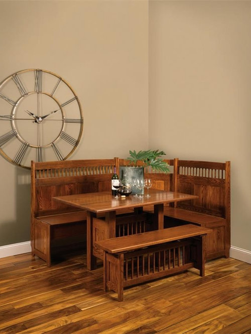 amish classic mission corner nook set solid wood dining benches amish corner breakfast nooks