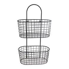 Metal Basket Wall Organizer