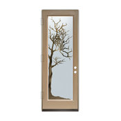 Glass Front Entry Door Sans Soucie Art Glass Winter Tree