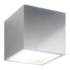 Modern Forms Bloc LED Up or Down Wall Light, Brushed Aluminum