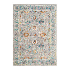 Karine Vintage Inspired Rug, Grey and Multicoloured, 182x274 cm