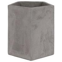 Pentagonal Shape Cemented Flower Pot, Gray