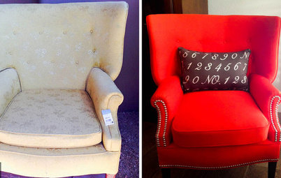 Project Rehab: New Life in Red for a Goodwill Armchair