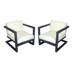 Outdoor Alhama Chairs, Set of 2, Anthracite