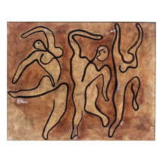 Dancers Wall Art, Minimalist Chocolate Frame