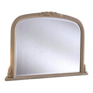 Ivory Overmantel Wall Mirror, 63x102 cm