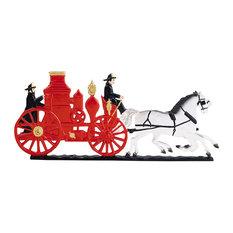 "13.5""x8.75"" Fire Engine Mailbox Ornament, Color"