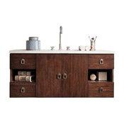 """Sonoma 48"""" Vanity, Coffee Oak, 3cm Gray Expo Quartz Top"""
