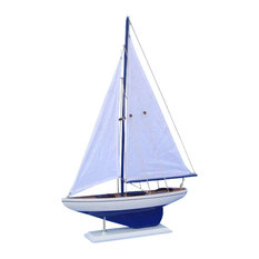Pacific Sailboat Wood Yacht Model, 25""