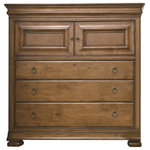 Universal Furniture - Dressing Chest - Two door with two tray drawers and adjustable shelf behind; Three large drawers; Jewelry tray; Hidden side drawers; Pull out clothes rod; Cedar bottom in bottom drawer