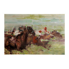 Church Downs Traditional Equestrian Acrylic Painting