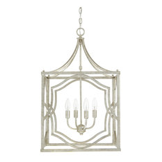 Capital Lighting 9482AS Blakely 4-Light Foyer Fixture, Antique Silver